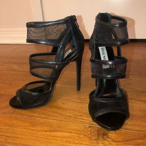 Steve Madden leather black heels